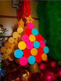 Colourful hanging tree