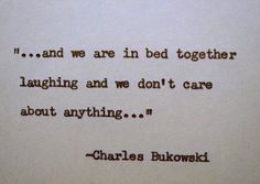 CHARLES BUKOWSKI Quote Hand Typed Quote Made by PoetryBoutique