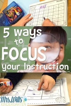 Are looking for some guidance in improving your teaching skills? Here is a list of 5 ways to focus your instruction!! Reading, Writing, Math, Assessment, and MORE!