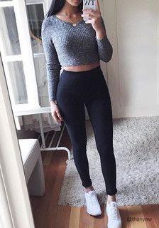 thanyaw is wearing lookbookstore black classic high-waist leggings