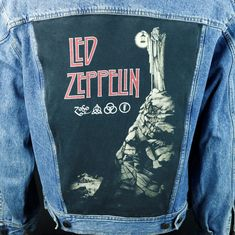 93a7778c3e5 Gorillaz Denim Jacket Blue Trucker Concert Tour Made in USA Mens ...