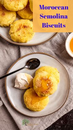 These Moroccan Semolina Biscuits are easy to make and taste incredible!  They use low glycemic semolina and olive oil instead of butter.  Great to throw together in a pinch. Mediterranean Diet Meal Plan, Mediterranean Recipes, Semolina Flour Recipe, Biscuits, Filling Snacks, Flour Recipes, Pastry Recipes, Different Recipes, Easy Cooking