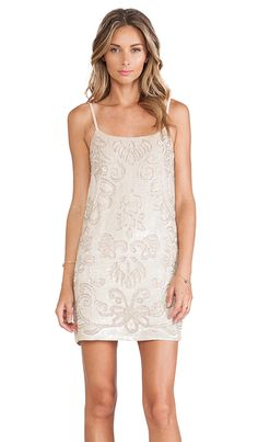 Needle & Thread Gloss Lace Mini Dress in Vintage Pink | REVOLVE- New Years Dress!