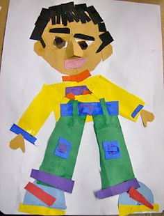 1st Grade Self Portrait Collage