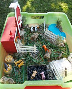 Farm Sensory Bin + Barn Craft by Crayon Box Chronicles