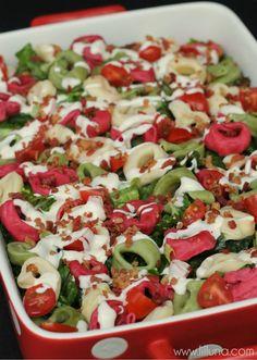 This Tortellini Salad is a family favorite! { lilluna.com } #salad #tortellini