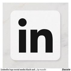 LinkedIn logo social media black and white promo Calling Card