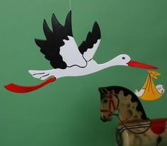 Fliegender Storch, 58cm