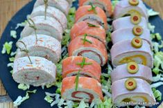 Cocina – Recetas y Consejos Summer Recipes, New Recipes, Cooking Recipes, Decadent Cakes, Party Finger Foods, Antipasto, Food To Make, Catering, Sushi