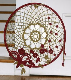 Ravelry: Dream Big Dreamcatcher crochet pattern by Amy Seeberger Crochet Motifs, Crochet Art, Crochet Crafts, Crochet Doilies, Yarn Crafts, Crochet Projects, Diy And Crafts, Crochet Patterns, Irish Crochet