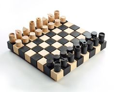 A' Design Awards & Competition – Winners 2015 - Chesset Chess set by Duval Patterson Modern Chess Set, Golden Design, Create Collage, Chess Pieces, Bottle Design, Wood Turning, Game Design, Board Games, Diy And Crafts