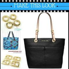 Make this MK tote with the Totes ma Totes pattern and hardware...we show you how!