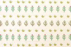 Japanese Fabric Cactus Flowers cream fat quarter by MissMatatabi