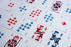 Playing Cards by Joelle Wall, via Behance