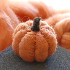 Needle Felted DIY Pumpkin kit for beginners designed by Teresa Perleberg