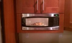 Framing a spacesaver microwave for built in look by Floridad Best Build, Kitchen Cabinet Remodel, Kitchen Remodel, Ge Microwave, Ikea Fans, Remodel, Microwave Cabinet, Space Savers, Built In Microwave