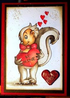 Beccy's Place - Spunky Valentine Digital Image, Valentines, Day, Places, Cards, Animals, Valentine's Day Diy, Animales, Animaux