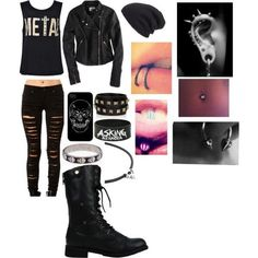 Outfit / style / emo / punk / rock