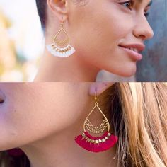 Rouges ou blanches ?? Ces BO sont à croquer !! RV le 5 avril pour leur sortie ! #pampilles#rouge#tassel What Should I Wear Today, Avril, Stella Dot, Crochet Earrings, Stylists, Drop Earrings, Jewels, My Favorite Things, How To Wear