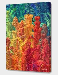 """""""Block Tower"""", Numbered Edition Canvas Print by J.R. Schmidt - From $69.00 - Curioos"""