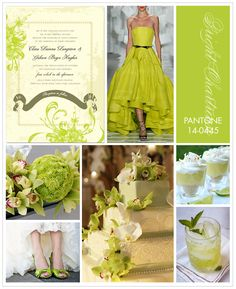 Pantone Bright Chartreuse definitely makes a statement as a wedding palette color. If you want to work this popular hue into your decor, try florals that naturally come in this shade, such as cymbidium orchids and button mums.