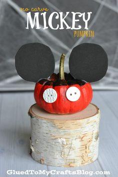 No Carve Mickey Pumpkin - Kid Craft