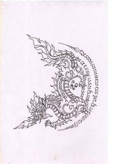 Tatuagem Yantra, Yantra Tattoo, Sak Yant Tattoo, Maori Tattoos, Red Ink Tattoos, Asian Tattoos, Body Art Tattoos, Tattoos For Guys, Future Tattoos