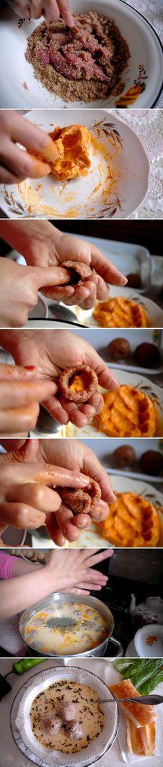 Buttermilk + Meatball (Kufta) Soup; photos: Nazik Armenakyan for ArmeniaNow #armenianfood #recipe