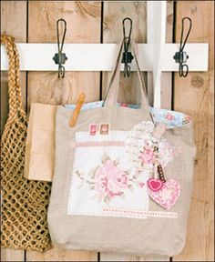 ariadne at Home; bag with gorgeous adornments.