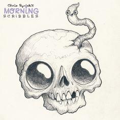 Buddies!#morningscribbles #october #halloween by chrisryniak
