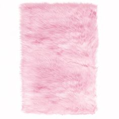 Home Decorators Collection Faux Sheepskin Pink 4 ft. x 6 ft. Area Rug - 5248220140 - The Home Depot