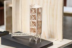 Galería de 'Arquitectura reflexiva' en torno a la madera: 10 arquitectos y estudiantes exhiben sus obras en Puerto Montt, Chile - 31 Container Architecture, Wood Architecture, Organic Architecture, Architecture Student, Amazing Architecture, Contemporary Architecture, Tower Models, Bamboo Structure, Arch Model
