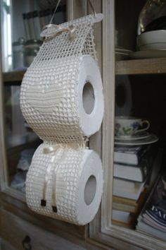 Items similar to Crochet paper toilet holder, toilet paper storage, toilet rolls cover on Etsy Crochet Tote, Crochet Dishcloths, Love Crochet, Crochet Doilies, Crochet Storage, Diy Recycling, Crochet Rug Patterns, Sewing To Sell, Macrame Plant Holder
