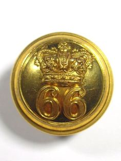 66th (Berkshire) Regiment of Foot Large Victorian Officers Button.