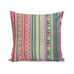 almofada indy estampa étnica colorida capa em algodão