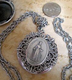 Locket+of+St.+Dymphna+Guard+Against+Depression+by+MarysPrayers,+$30.00