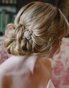 wedding hairstyle; photo: Millie B Photography