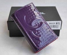 Chanel Key Holder Purple Patent Leather