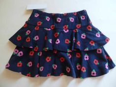 Gymboree Brightest in Class Skirt/Skort Blue Pink Red Flowers Size 4 5 6 7 8 NEW