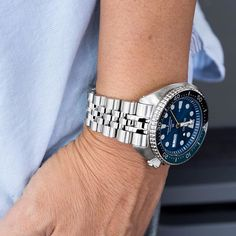 On the wrist - #MiLTAT Angus Jubilee bracelet for Seiko New Turtle SRP series PRE-ORDER now! More details: strapcode.wordpress.com #AngusJubilee #iwantstrapcode #strapcode
