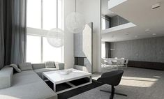 Black And White Living Room Decor With Minimalist Design 21