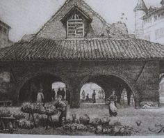 old halles de Figeac, demolished in 1888.