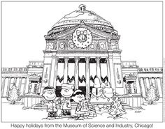 Museum of Science and Industry | Downloads | Peanuts Holiday Coloring Sheet