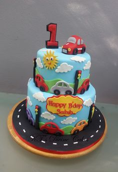 1st Birthday Car Cake