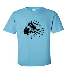 A quality short sleeve T shirt. Size Guides Men's T shirts S M L XL Women's T Shirts S M XL XXL Children's T Shirts Age (yrs) Red Indian, Headdress, Feathers, Etsy Shop, Clothing, Mens Tops, T Shirt, Shopping, Fashion
