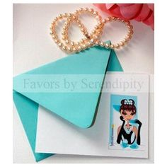 Be the epitome of chic with these eye-catching blank note cards and Tiffany Blue envelopes. The design is printed on a simple white eco-chic card and is designed to delight.    Your guests will enjoy using them as thank-you notes with this warm and whimsical design.