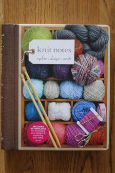 Knit Notes by Nadine Curtis: A knitwear designers notebook FULL of project pages to help you get your design from your head to the page.
