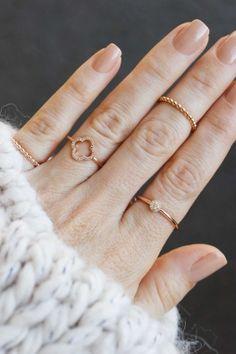 LUCK diamond ring rose gold