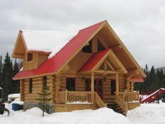 chalet toit rouge