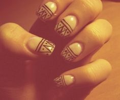 Love tribal nails!